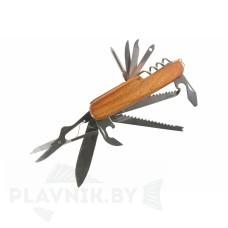 Мультитул СЛЕДОПЫТ, 11 предметов, с деревянной ручкой PF-MT-12