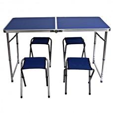 Стол складной Libao + 4 стула